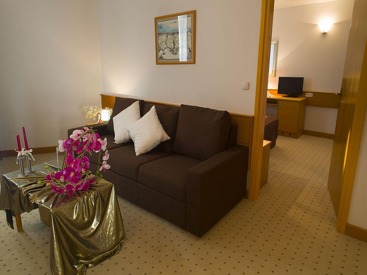Four-bedded room comfort with air conditioning and a balcony, all inclusive