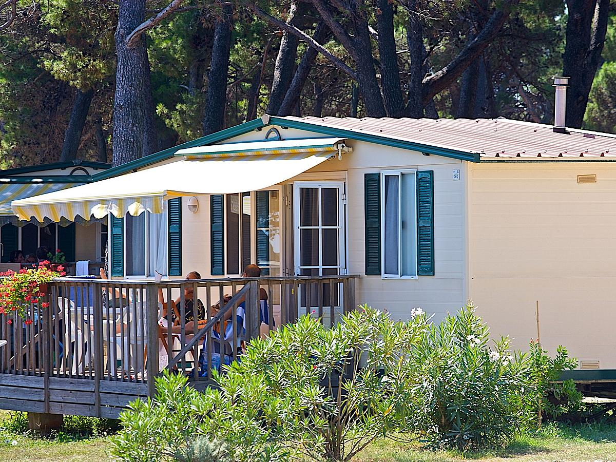 Mobile home for 4-5 people, park side