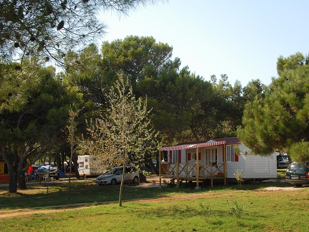 Mobile home standard for 4-5 people, park side