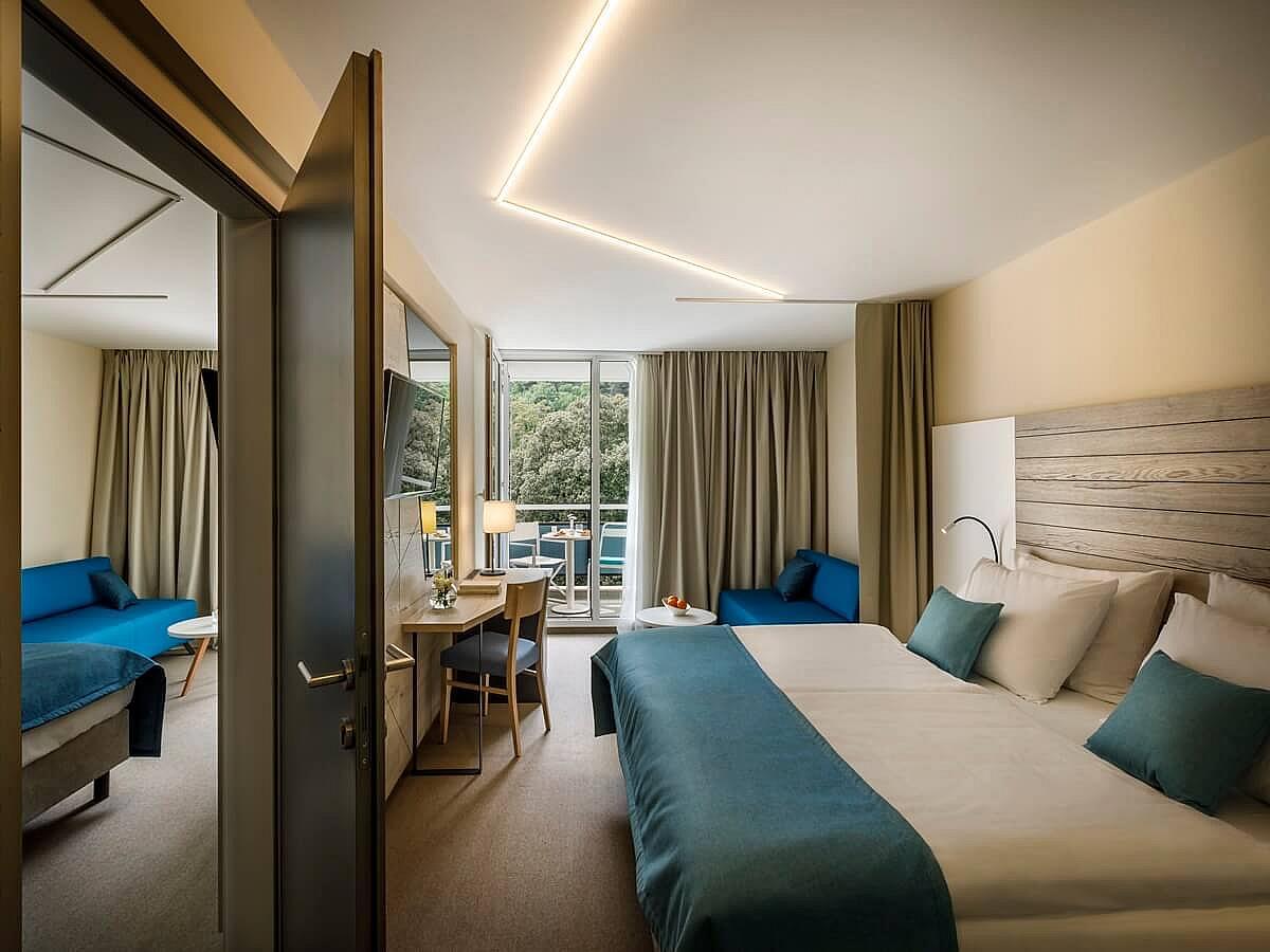 Doua camere duble cu până la două paturi superior usa de conectare cu balcon cu vedere la parc/munte cazare cu demipensiune