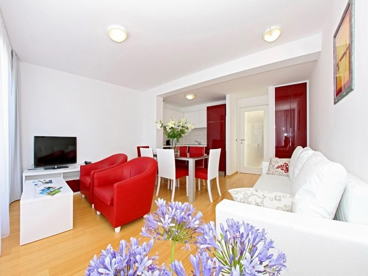 Apartmán pro 2 osoby se 2 pomocnými lůžky (55 m2)