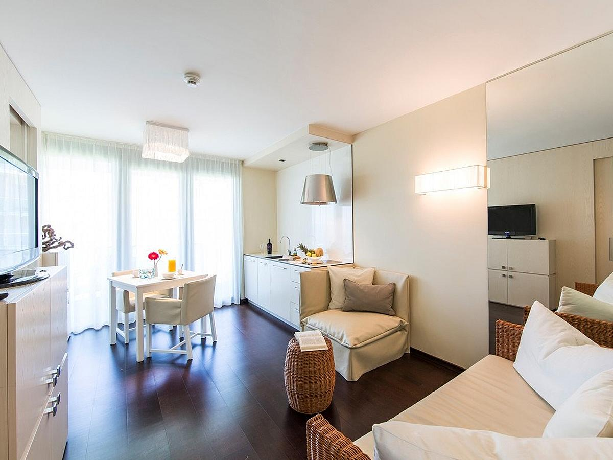 Apartment for 2 people with extra bed