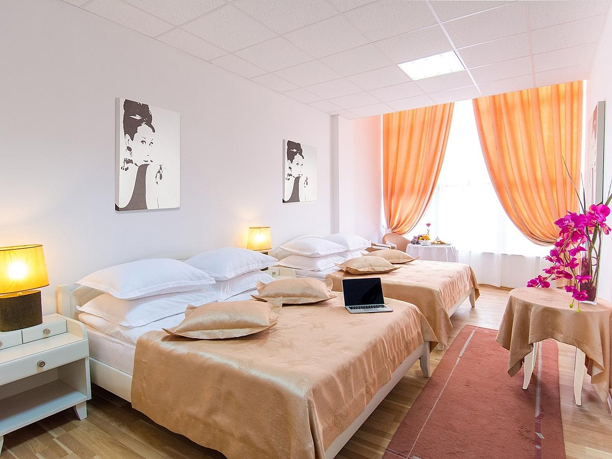 Four bedded room on bed and breakfast basis