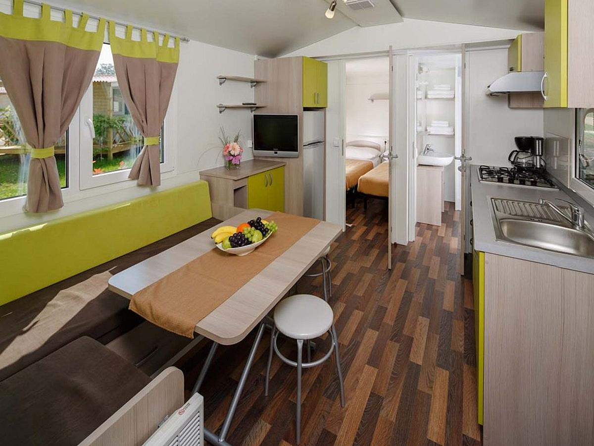 Mobile home for 4+2 people, classic park side (zone A)